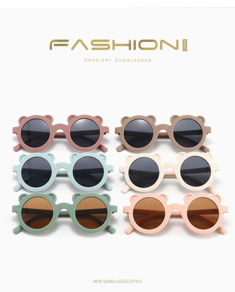 Nouveaux Inschies enfants enfants Sunglasses filles garçons Bear Sun lunettes Couleur Couleur Couleur Jolies Lunettes de soleil Enfants Fashions Shades Sunes Blocks