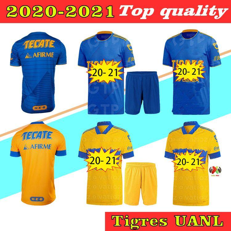 2021 TIGRES UANL 7 ESTRELLAS Jersey de fútbol Home Aloy Away 20 21 México Club Tigres Amarillo Gignac Vargas H. Ayala Sosa Jerseys Camisetas de fútbol