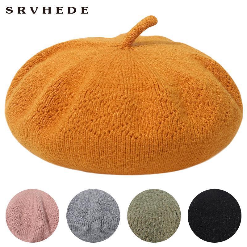 Hut Winter Damen Barett Frauen Hüte für Damenmütze Lässige Mode Wollhut Frühlingsfilz 2020 Neue [Srvhede]