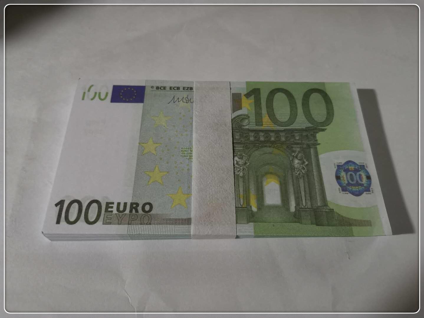 Props New Faux Prop Ticket Papel Papel de Papel Magic Le100-35 100 Billet Regalo Euro Toy Money Euro NQxop Uqicq