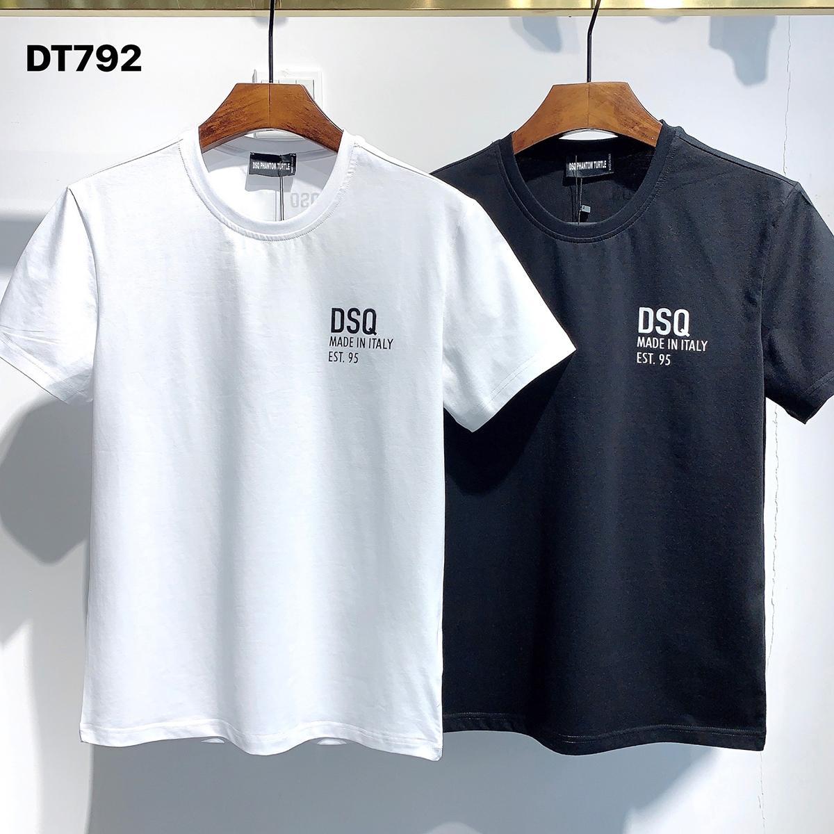 DSQ Phantom Tortue 2021ss New Mens Designer T-shirt Paris Mode T-shirts Été DSQ T-shirt T-shirt Homme Top Qualité 100% coton Top 1038