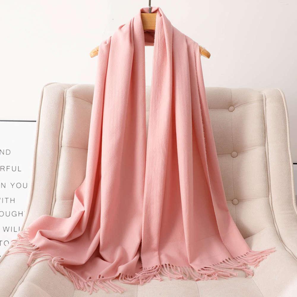 Scarpa di cashmere popolare Sciarpa addensata Autunno e inverno scialle di lana da donna Tinta unita da donna a doppio colore