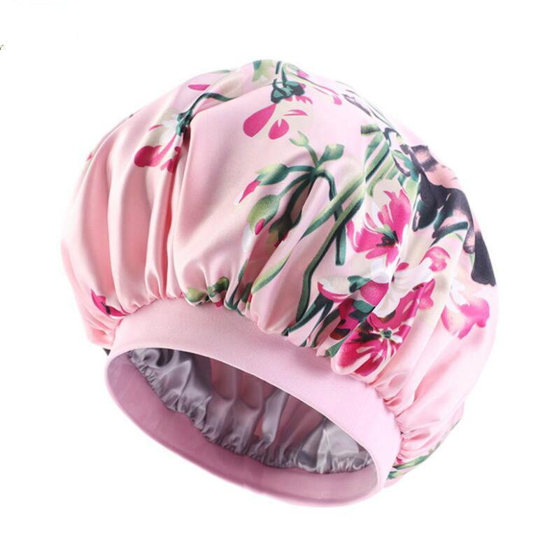 Night Satin Bonnet с широкой премиум-эластичной группой, салон капота для волос спящая крышка для женщин