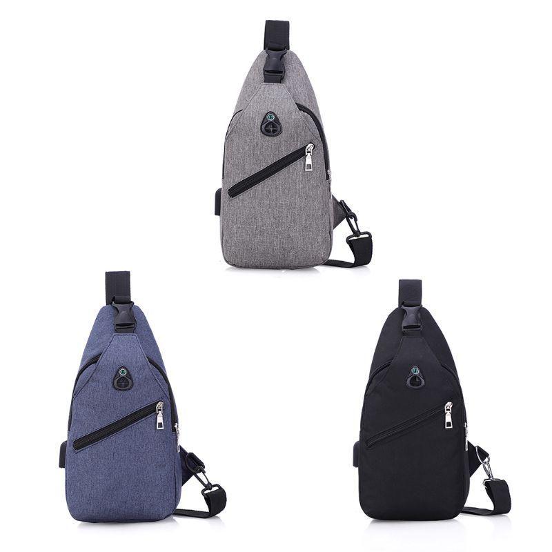 Paquete de pecho simple bolsa Bolsa de honda al aire libre Un hombro Crossbody para hombres Senderismo Ciclismo Uso de viaje Suministros