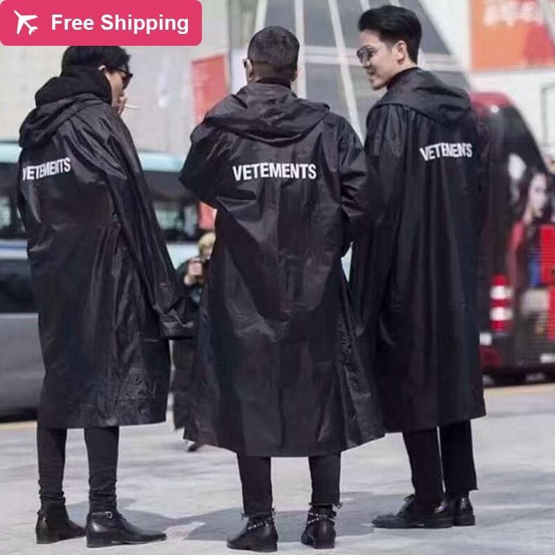 Nagri Raincoat HIP Lettre d'eau Kanye West 2020 Imprimé Hop Fashion Vetements Men's Dwateridas surdimensionnés de nouvelles femmes BVVGS