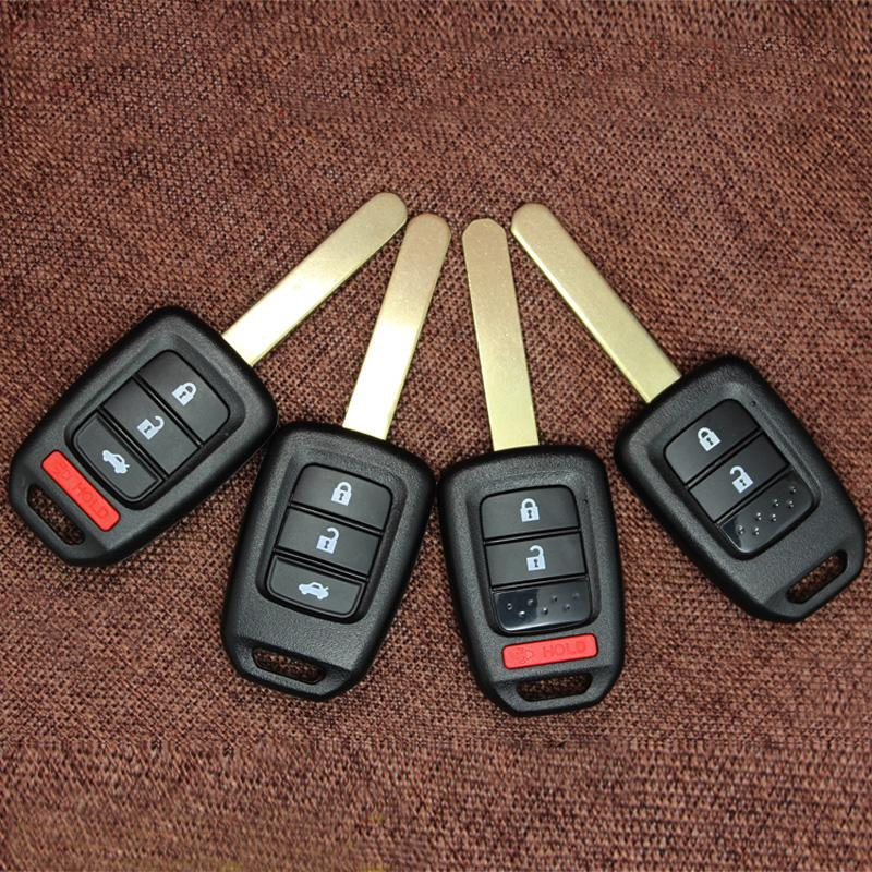 Для Honda Accord CR-V FIT TIT XRV VEZEL City Jazz Civic HRV FRV автомобиль удаленный ключ Case FOB 2/3/4 кнопки ключ замена оболочки