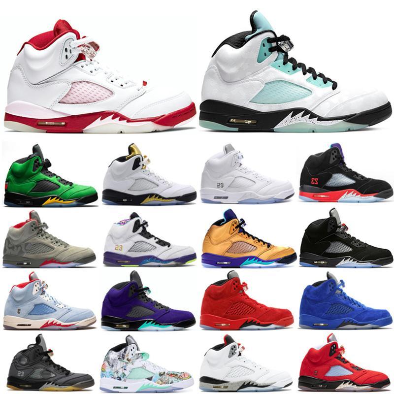 Hombres al aire libre 5 5s Zapatos de baloncesto Alternate Bel Trofy Room Top 3 Space Jam Island Green Oregon Ducks Sneakers Trainers 40-47