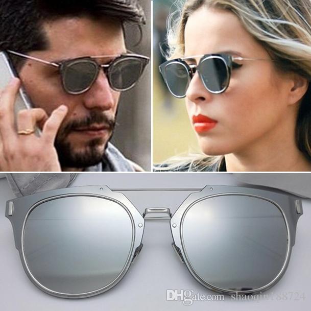 Vente Hot 2019 Nouveau Summer Composit 1.0 Lunettes de soleil Femmes Marque Marque Sunglasses Steampunk Mode Hommes Sunglasses Oculos de Sol Lunettes de soleil.
