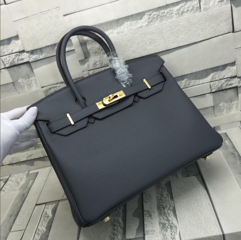 2020, en los nuevos bolsos de diseñador 25 cm 30 cm 35 cm de moda Totes de moda Litchi Pattern Bolsos de cuero genuinos Damas bolso de bolso