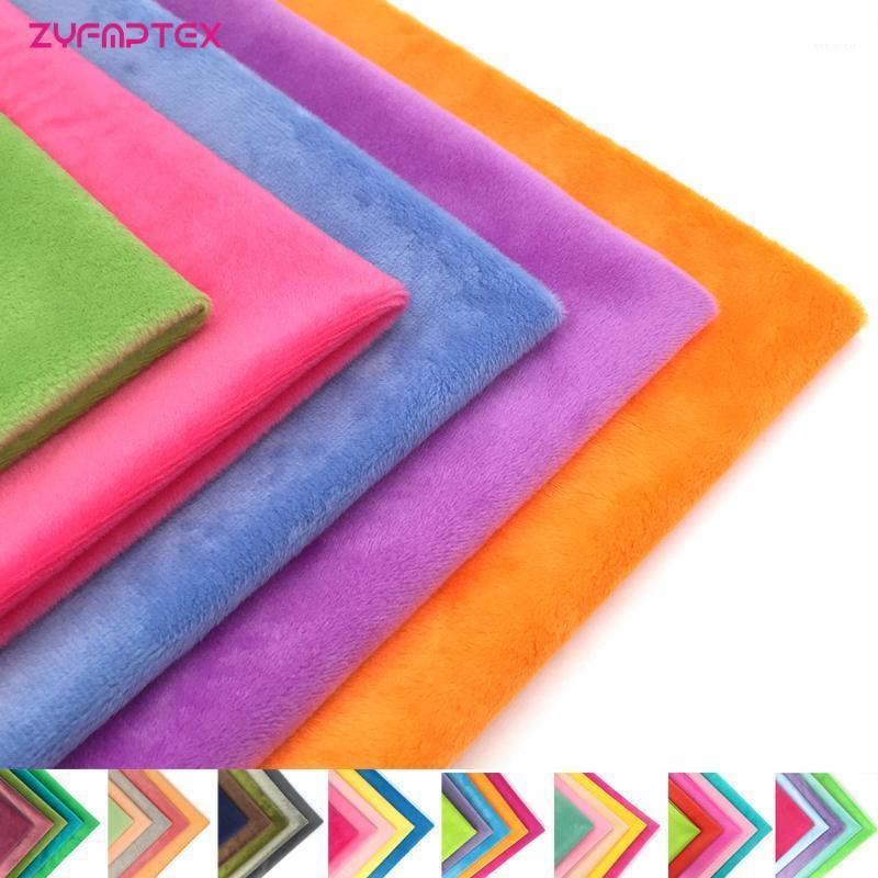 Fabric ZYFMPTEX 45x50cm 5Pcs/Lot 100 Polyester 1.5mm Pile Minky Plush For DIY Sewing Patchwork High Quality 1