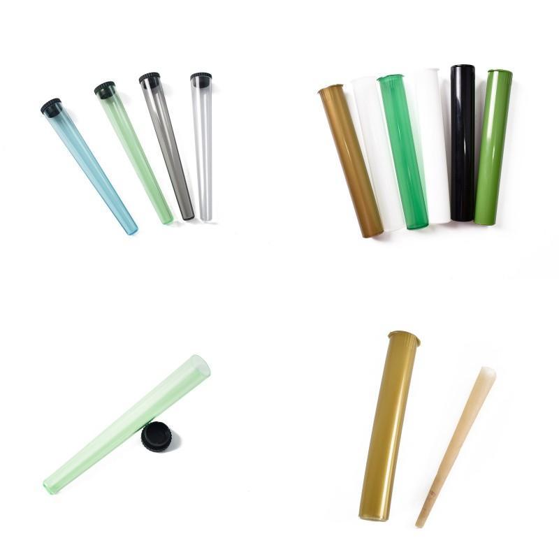 Plastic King Size Doob Tube impermeable Olor Aprieso Olor Olor Cigarrillo Sólido Almacenamiento Sellado Píldora Píldora Caja 2 Estilos Elija 266 N2