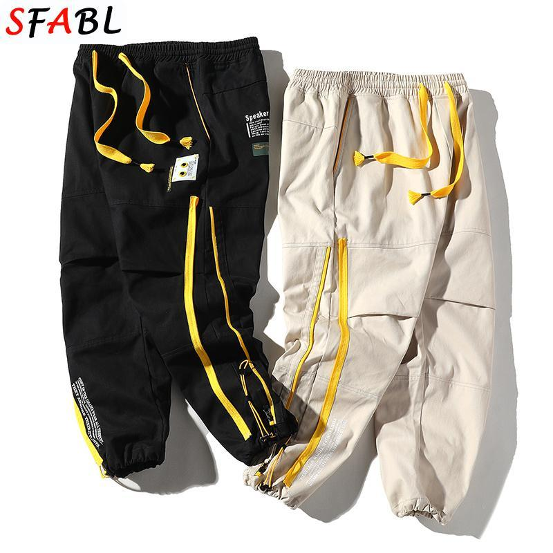 Pantaloni da uomo SFABL Streetwear Streetwear da uomo Harem Giapponese Casual Pantaloni in cotone Jogger Black Hip Hop Cargo Uomo giovanile
