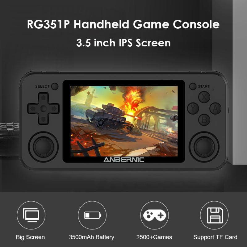 RG351P Annbernic RG350P Ручной игровой игрок 64 ГБ EMELEC Система PS1 64bit Game IPS RG351 Pocket Portable Retro Console