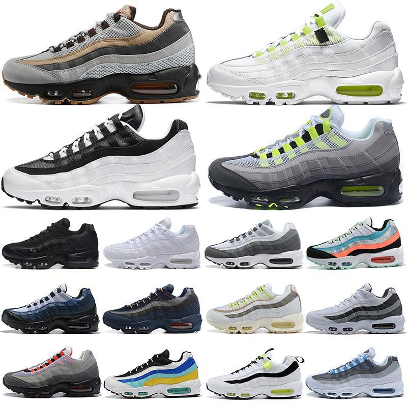 men running shoes 95 Worldwide Yin Yang Triple Black White Neon 95s fashion outdoor platform mens womens trainers sports sneakers 36-46