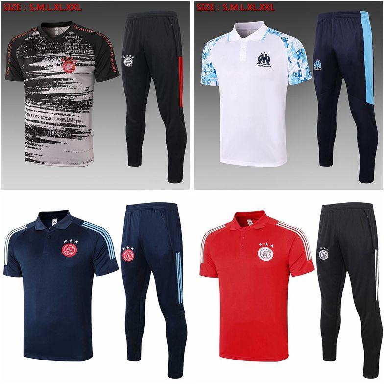 20 21 Marseille Sjaxs Soccer Kurzarm Training Anzug Football Surverement MAILTOT DE FOT TRACKSUITS T-SHIRT Jogginganzüge NM05