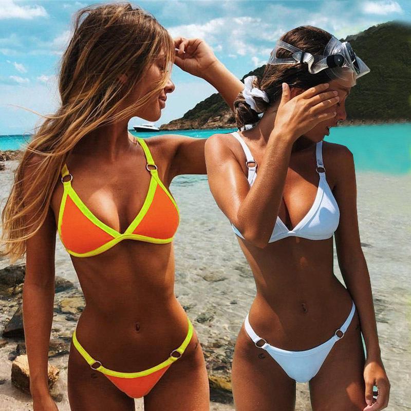 Push Up 2020 Sexy купальник Женский Твердая Thong Бразильский мини микро бикини Set Biquini купальный костюм Женщины
