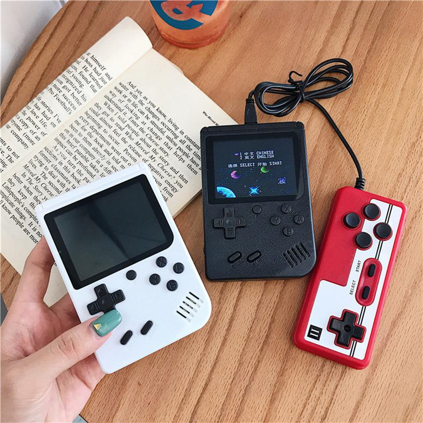 Double Players Handheld Game Console Portable Video Games Retro 400 in 1 Classic Colorful LCD 3.0-inch Screen Video Game Box for Kids gifts