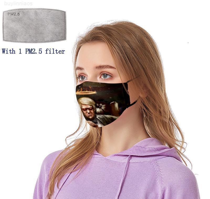 Yıkanabilir Evrensel Maske PM2.5 Malzemeleri Amerikan VW Xhlight Toz Geçirmez Kadın Erkekler Trump Seçim için Kullanılabilir Kadınlar Baskı Yüz ve Frer ile Filtreler