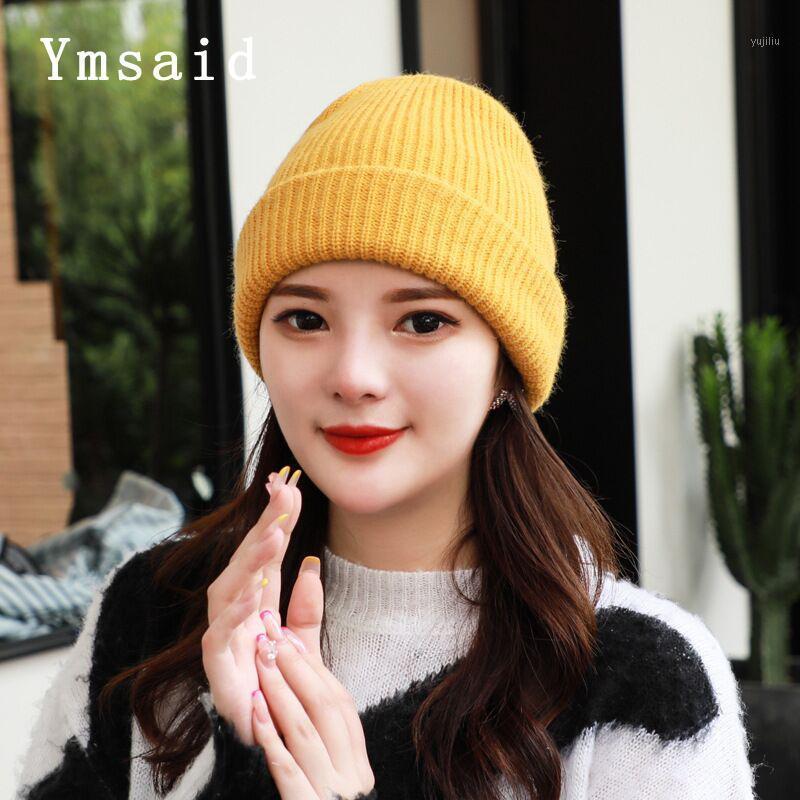 Beanies bere şapka kadın erkekler için kış örme sonbahar skullies unisex bayanlar sıcak bonnet kap kore siyah kırmızı cap1