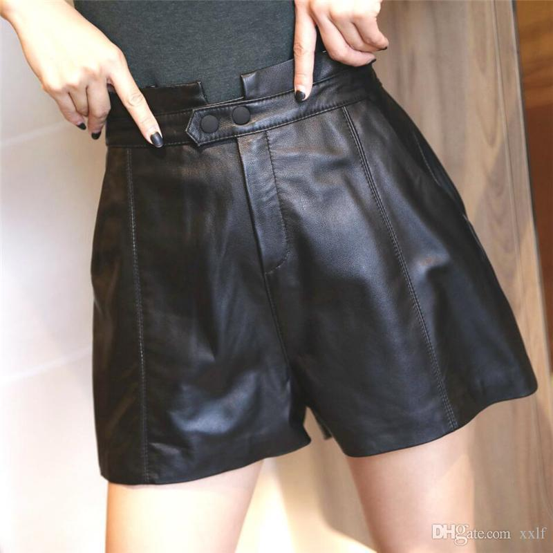 Mode weiche Schaffell Shorts Frauen Straße Echtes Leder Shorts Marke Lady Sexy KG-604