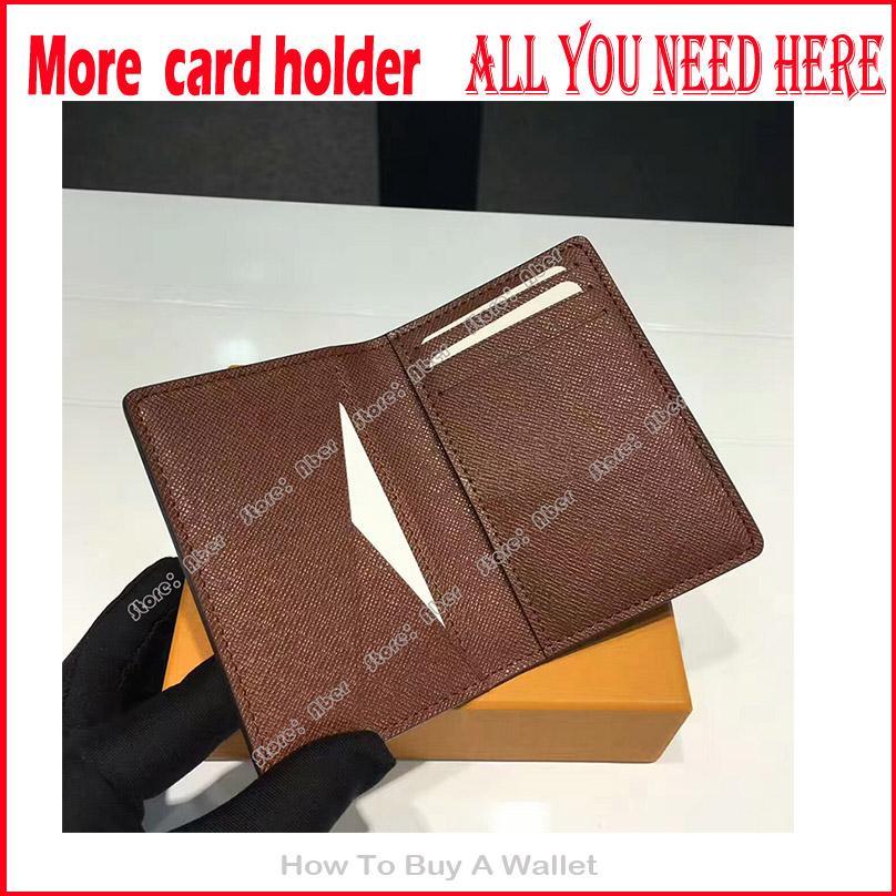 Erstaunlicher Organisatorinhaber brauchen hier Lederkredite echt u et nm Brieftaschen Designer Halter Frauen Kartenkarten Brieftaschen Luxurys Tasche Alle Männer KXXM