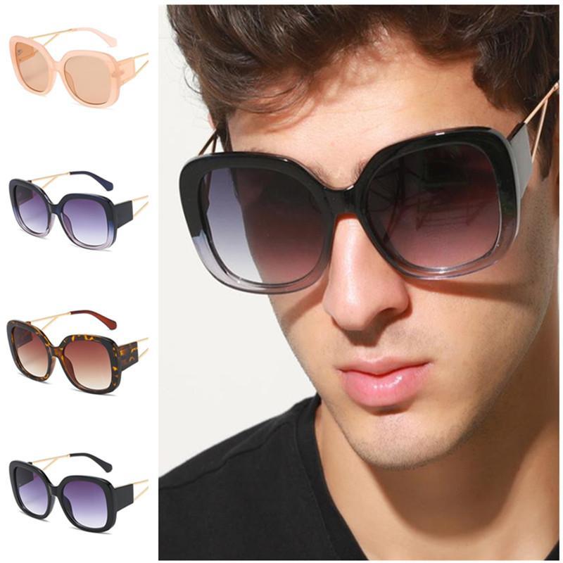 A ++ lunettes de soleil Simplicité surdimensionnée Personnalité des lunettes de soleil lunettes de soleil lunettes de lunettes anti-UV Spectacles Fashion Cadre Hommes Ornamental Te Bbdt