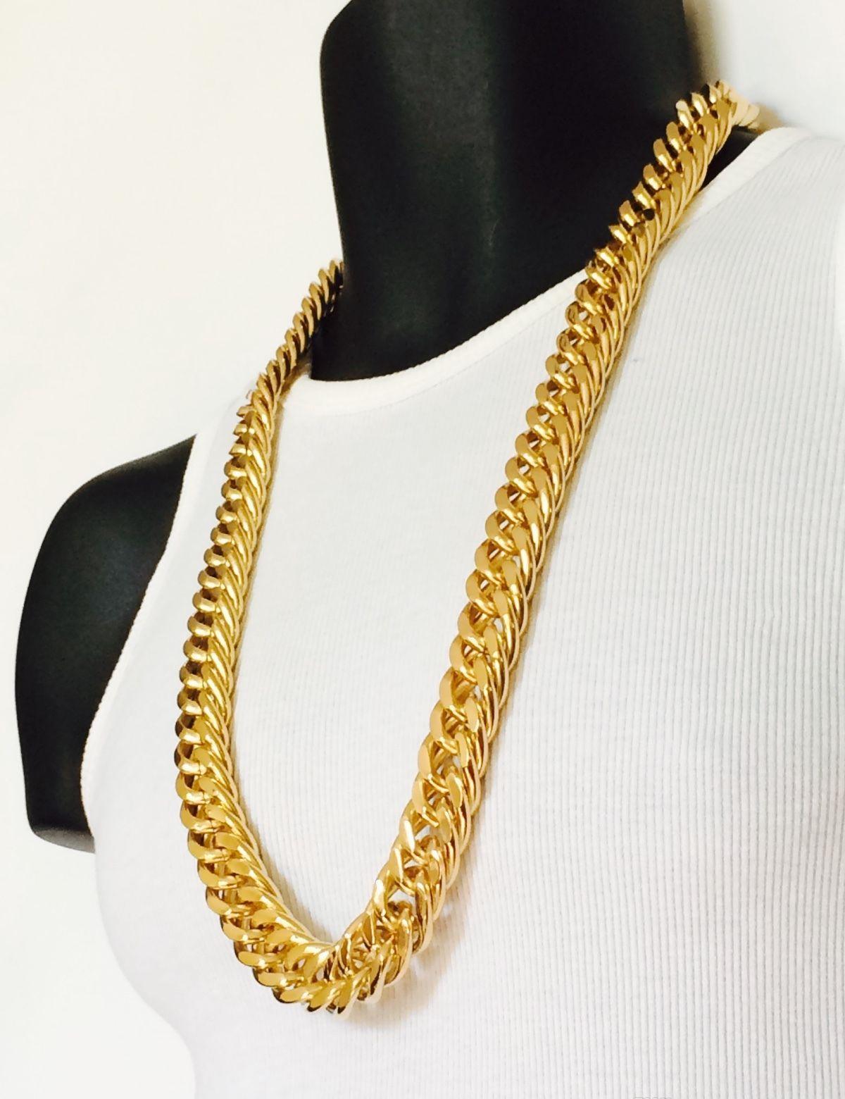 Solide épais cubain gratuit Miami gf hommes 11mm Epacket HOP Chain Jayz Expédition Livraison Gold Jaune Chain 14k Lien HIP WMTUW DayUpShop