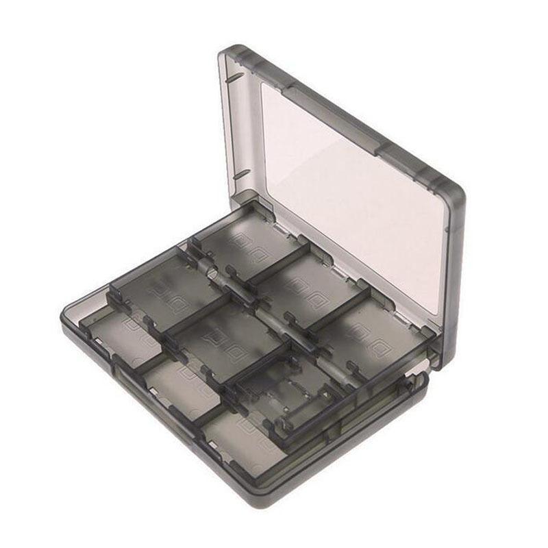 Caja 28in1 Tarjetas de juego de plástico duro Tarjetas de estuche protector de almacenamiento para Nintendo NDS 2DS NDSL NDSI NUEVO 3DS LL / XL 3DSX