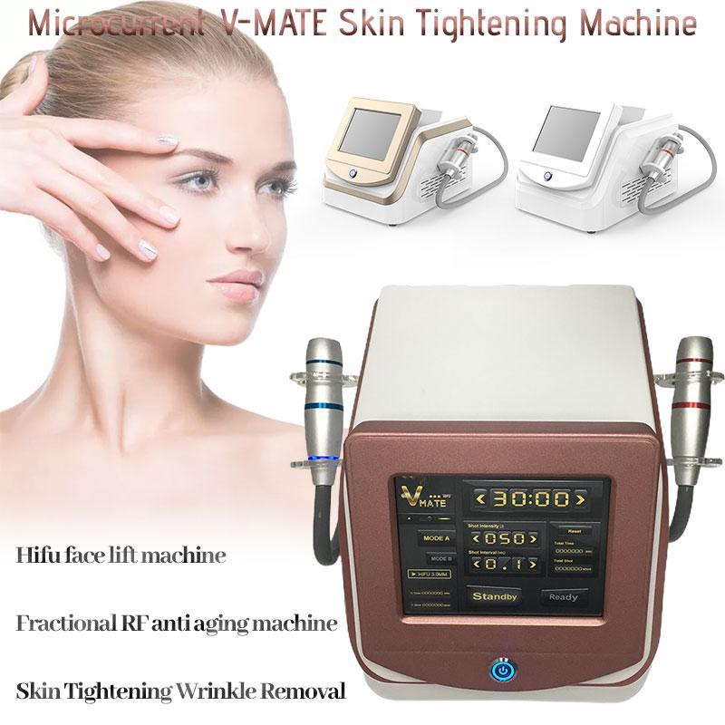 Portable 2 in 1 HiFu Face Sollevamento Beauty Beauty Machine V-MAX Skin Ringiovanimento della pelle Rimozione delle rughe