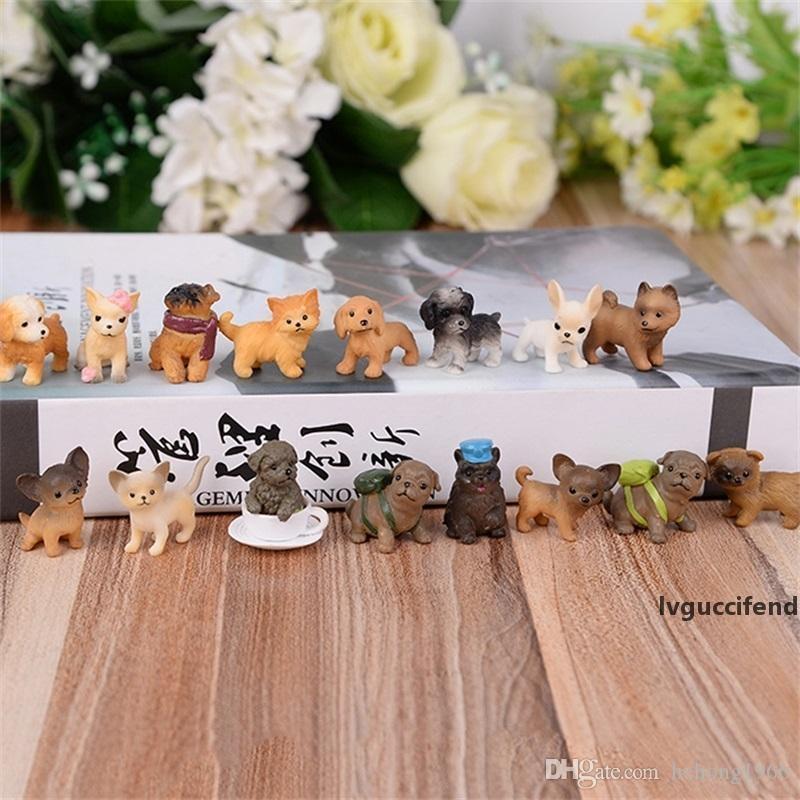 Новый Creative DIY искусственные домашние собаки игрушки ручной смола микро пейзаж ремесел орнамент бонсай прекрасный мини-телефона вешалка много видов 1 45xz