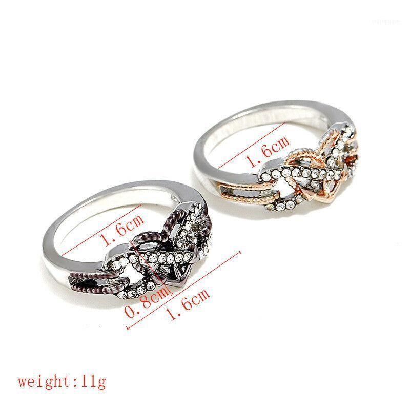 Femmes Engagement Anneaux de mariage Bijoux Mode Rose Or Argent Couleur Cœur Infinity Cubic Zircon Anneaux1