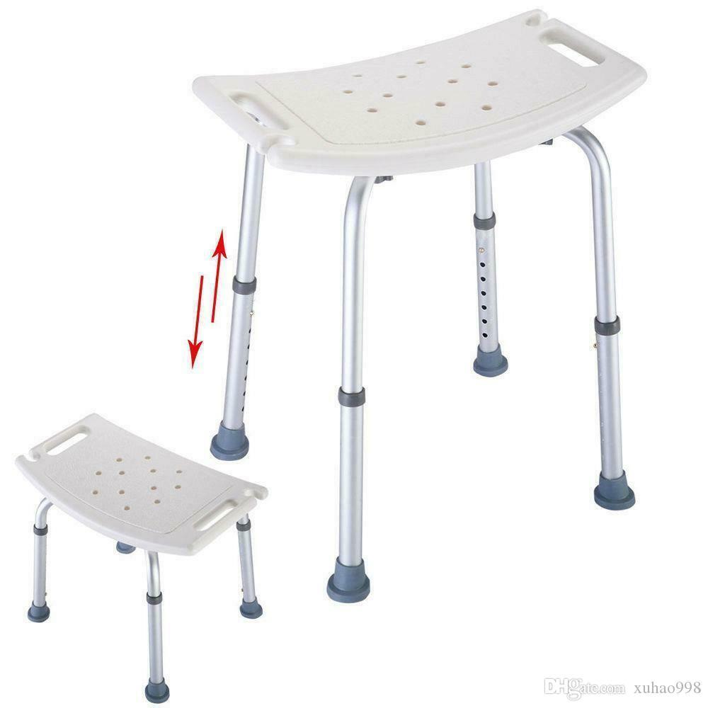 Baignoire médical ajustable de personnes âgées de douche chaise de douche tabouret siège 7Height