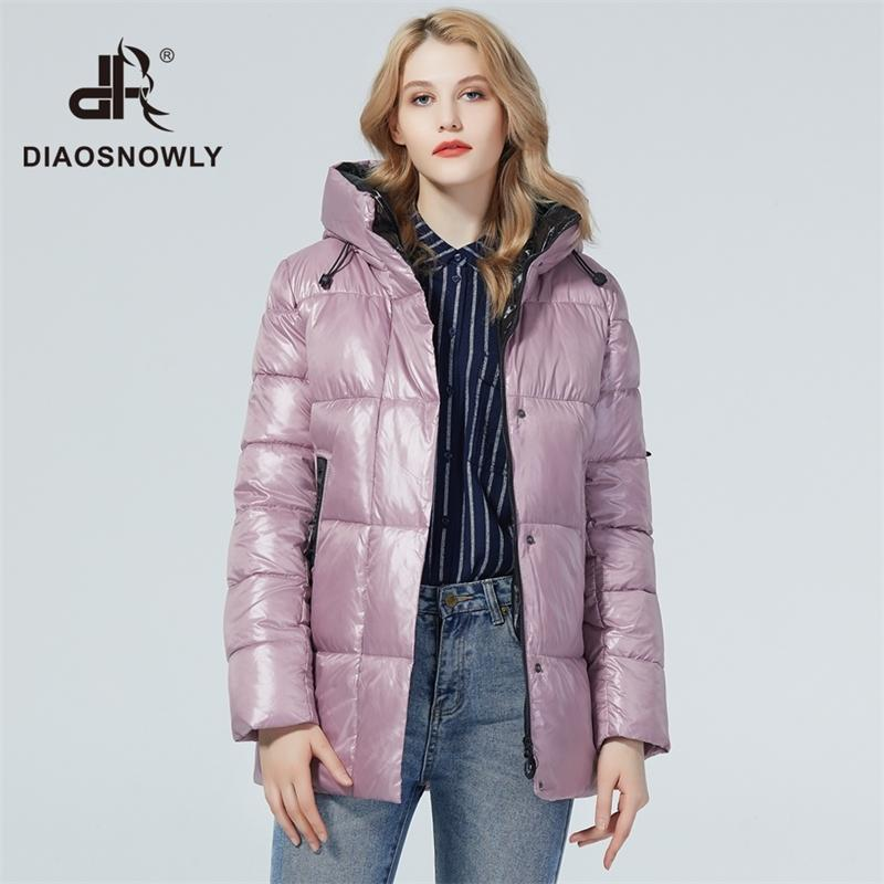 Диснообразно зимняя куртка женские куртки и пальто средней длинной зимней женщины Parka женщина Пальто теплых марок женщин 201119