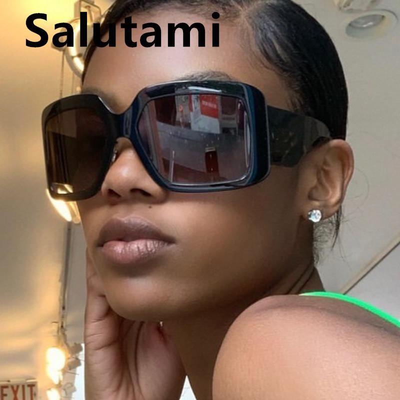 Homens para 2020 moda óculos de sol novas mulheres Sun quadrado óculos tons largo chique perna feminina gradiente vintage arc cdjeu