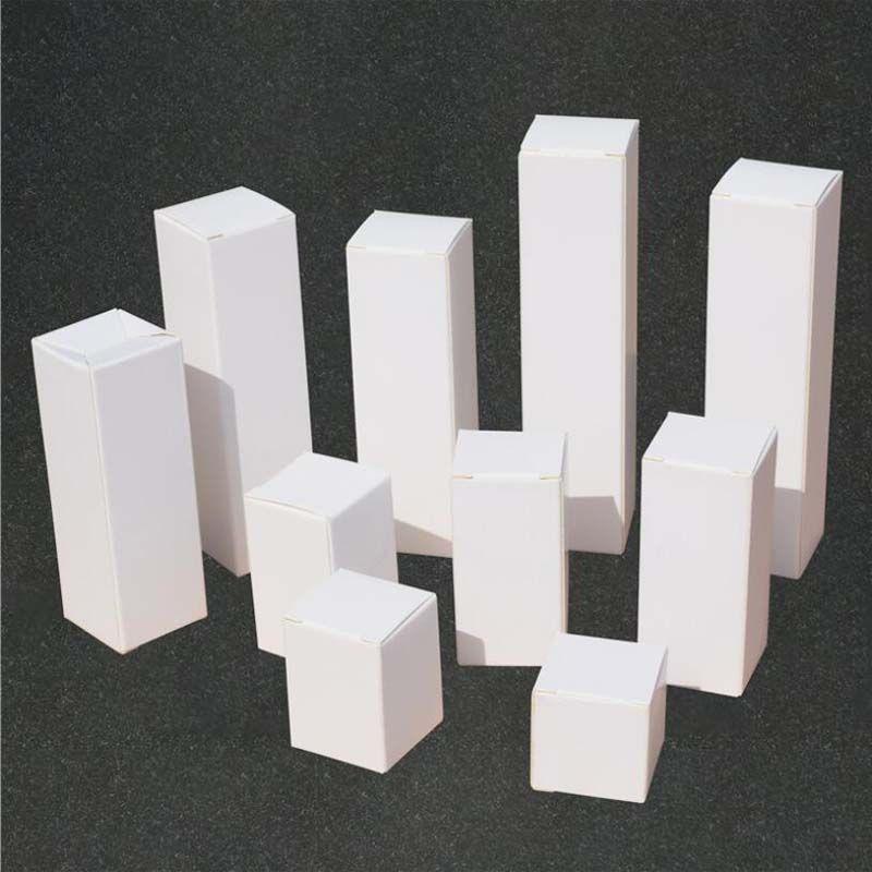 3x3cm белый крафт-коробка бумаги картонные коробки помада косметические духи бутылка крафт бумаги бумаги эфирные нефтяные упаковочные коробки - 0313pack