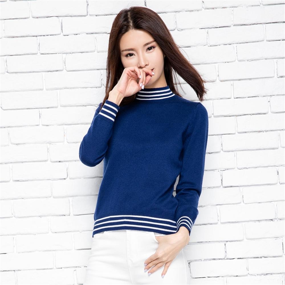 Sıcak Satış Kaşmir Yün Kazak Kadın Bahar Oneck Kazak Bayan Gömlek Renk Yolu Moda Kadın Tops Kadın Giyim Ücretsiz Kargo LJ200908