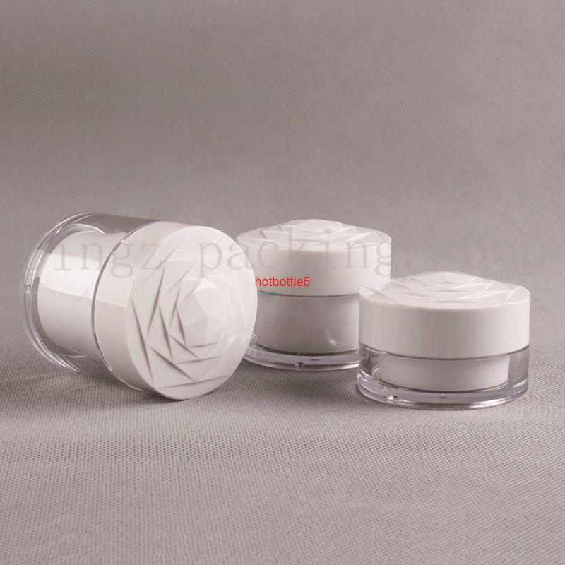 40pcs 20g Portatile Plastica Cosmetic Vuoto Vaso Vaso Pot Box Makeup Nail Art Bead Storage Contenitore Round BottleGood Qualità