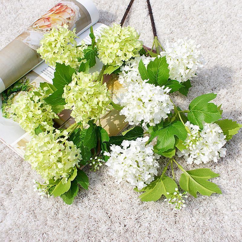New 5 Heads Hydrangea Artificial Flower Silk Flower for Home Party Decoration Wedding Wall DIY Decor Fake Flowers