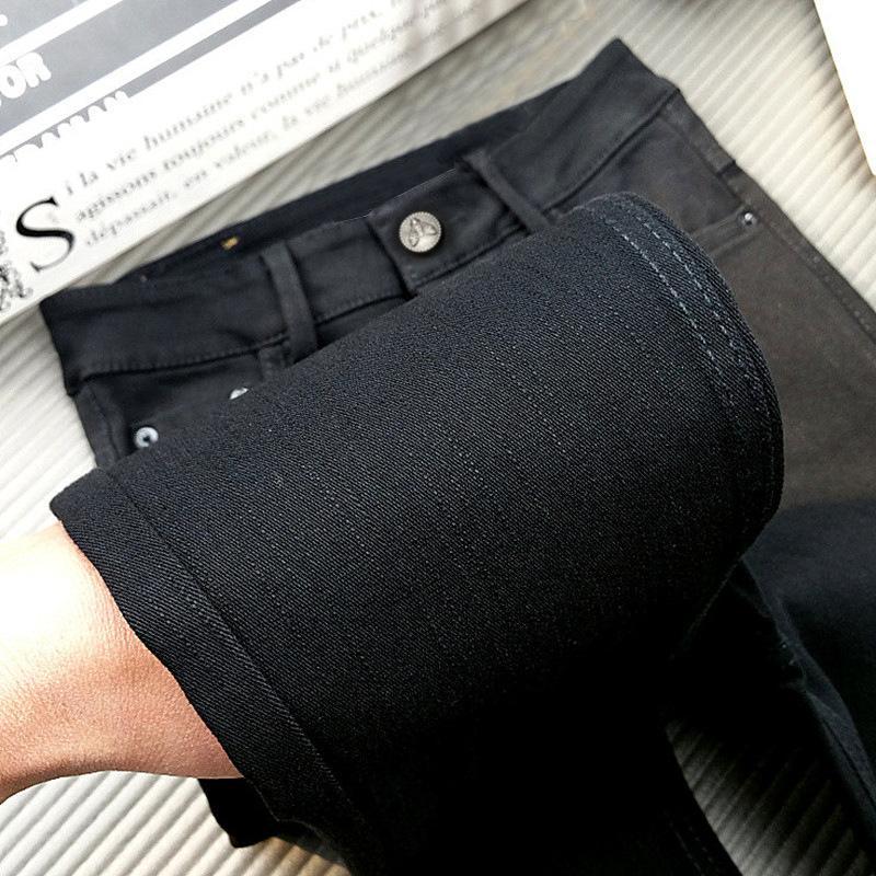 Leggings pretos com padrão de slub para mulheres