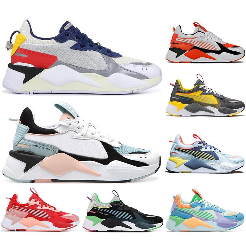 RS-X White Blue Trophy Hell Pfirsich Transformatoren Laufschuhe Für Frauen Männer Hot Sports Sneakers Herren Trainer RS X-Plattform Schuhgröße 36-45