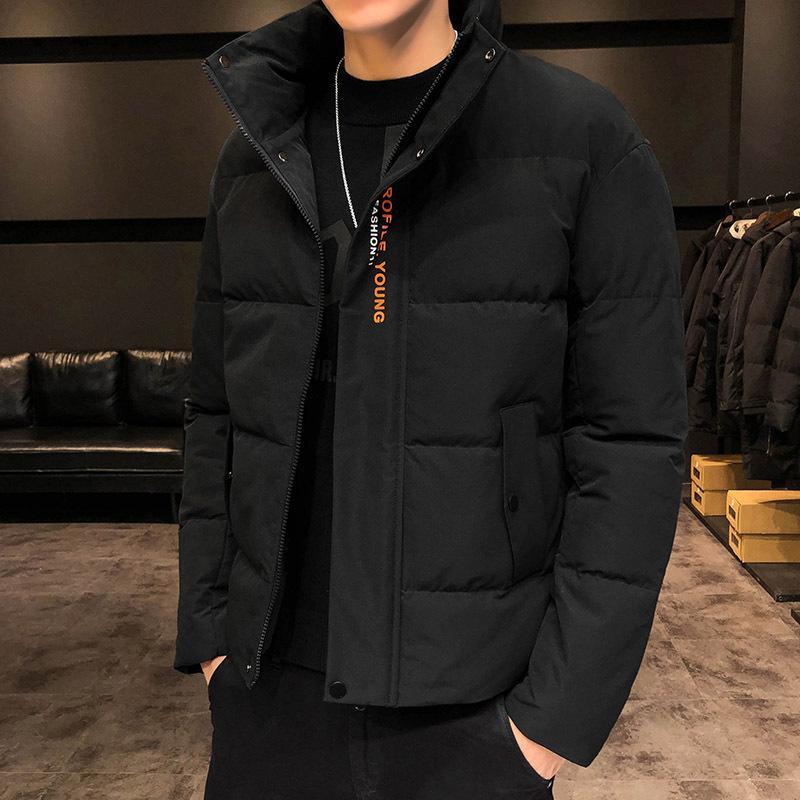 2020 nouveau manteau d'hiver épaissi pour hommes, veste rembourrée de garçons de style de style court et coton
