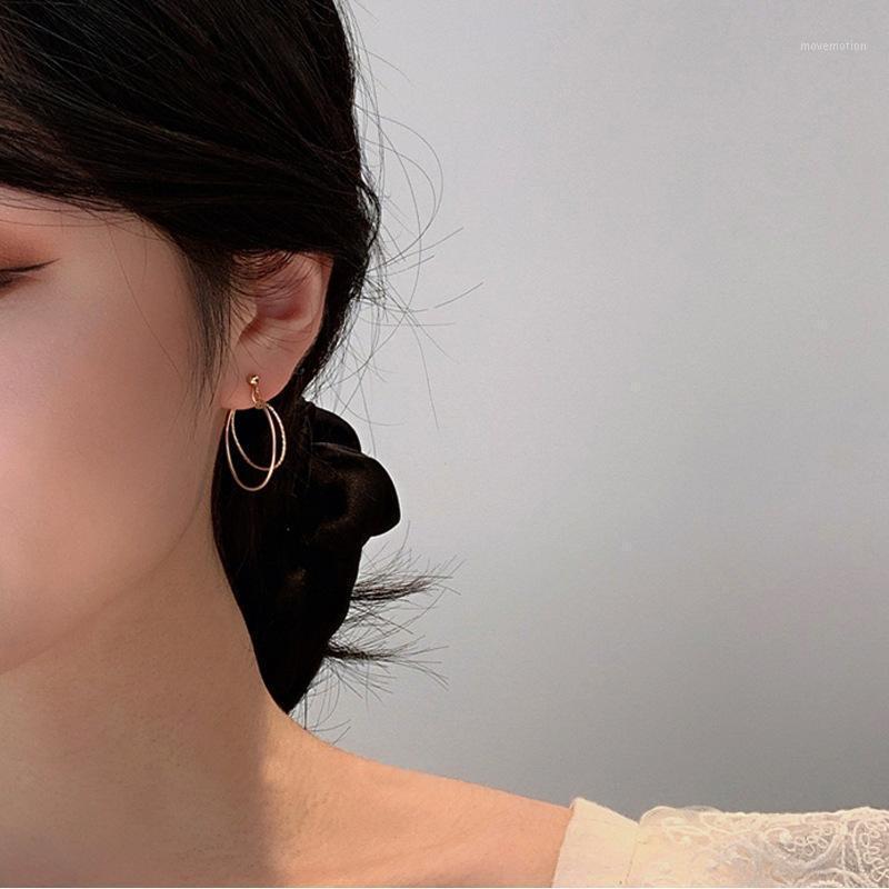 2020 Mode Hoop Boucles d'oreilles Bijoux Girl Cadeau Boucles d'oreilles géométriques en métal TRENDY FEMMES1