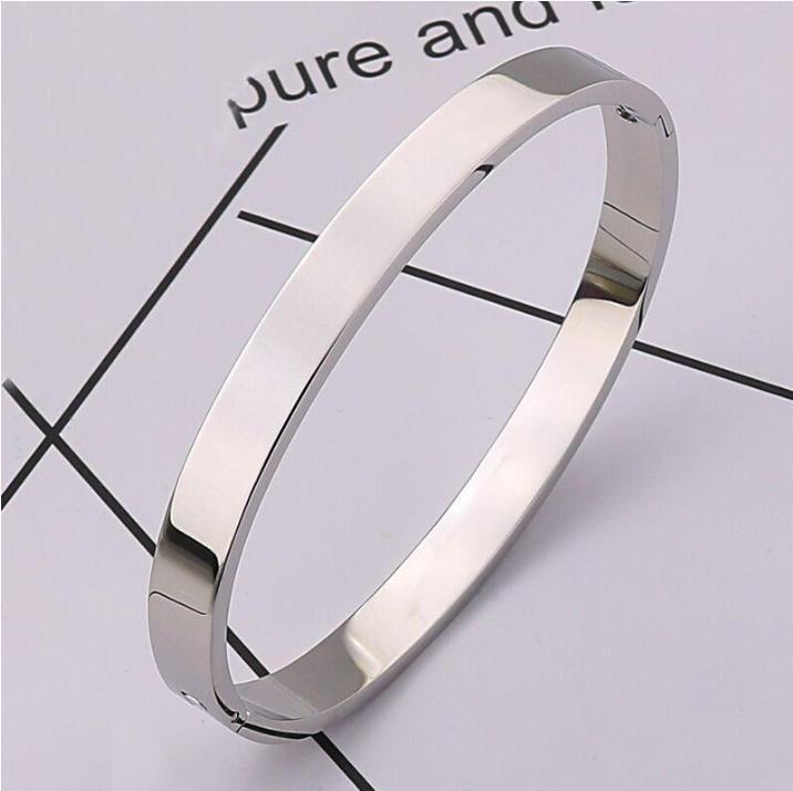2020 moda nova rosa ouro 316L de aço inoxidável pulseira pulseira com chave de fenda e parafusos de saco original nunca perdem