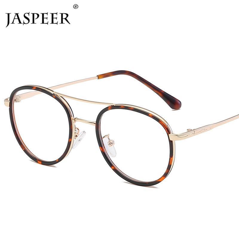 Модные очки для солнцезащитных очков Jaspeer Retro Pilot Eyeglasses Женщины Винтаж Винтаж Очковые объективы Очки Мужчины Отки