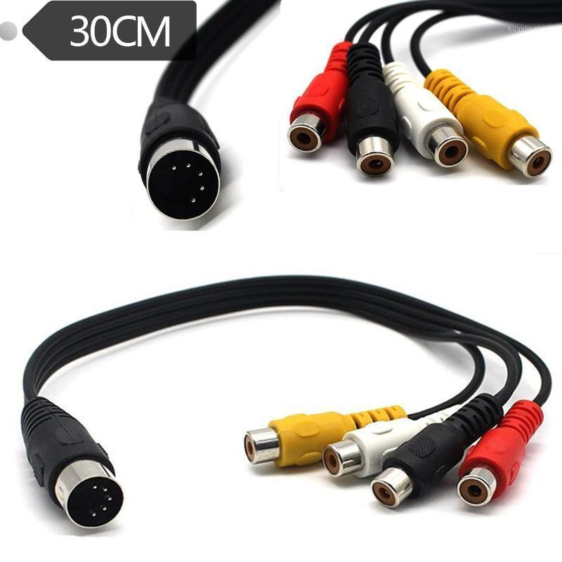 Computer Cables & Connectors 5 Pin Male Din Plug To 4 X RCA Female Plugs Audio Cable 0.3m1