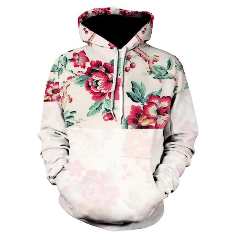 Sweats à capuche pour hommes Sweatshirts 2021 Mode 3D Impression Sweatwear Streetwear Creative Beautiful Fleurs Long Blouse Sudadera Hombre