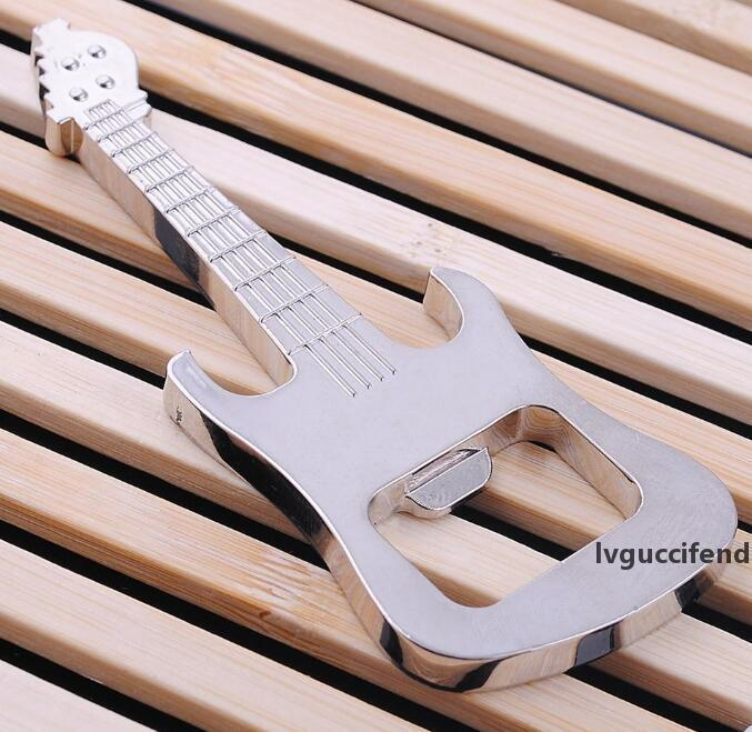 Free Shipping 2016 New Style Hot Sell Metal Guitar Beer Bottle Cola Cap Opener Keyring Bar Pub Tool XMAS Vogue Gift