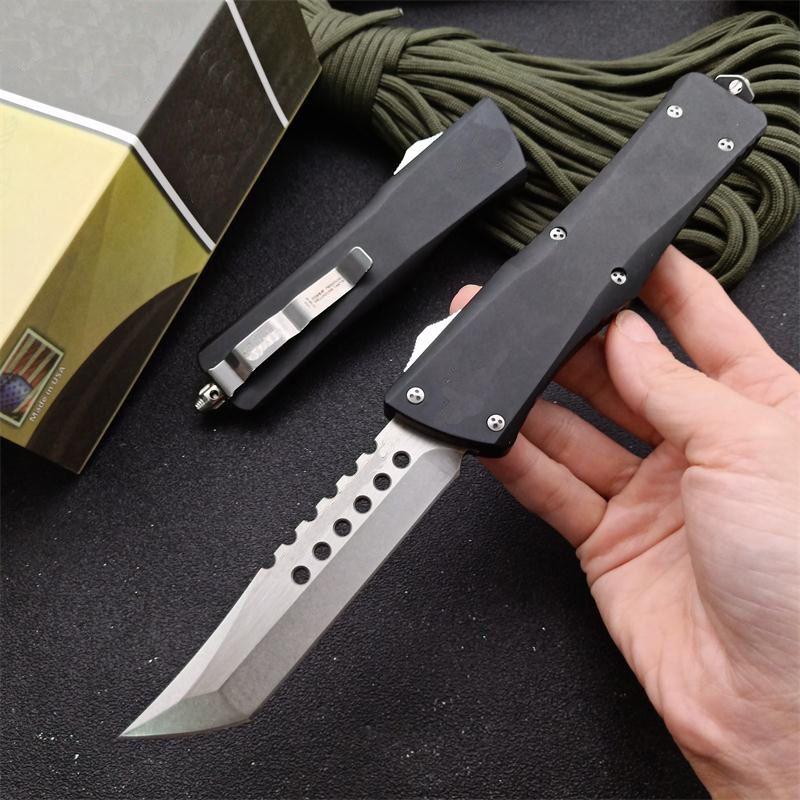 Micro-tech 121 UT85 UT121 Automatic knives Hell hound Tanto 9CR18MOV Blade self defense hunting Pocket Survival Knife BM 3300 3400 4600