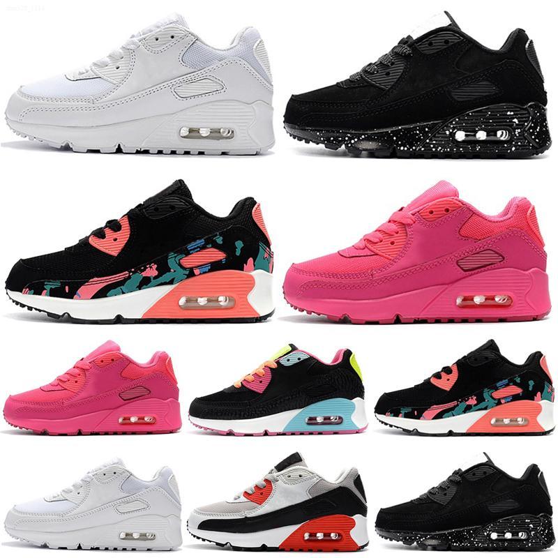 90 2021 Kinder Athletische Schuhe Kinder Schuhe Schwarz Baby Snant Sneaker Kinder Sport Kinder Turnschuhe Mädchen Jungen Jugend Trainer