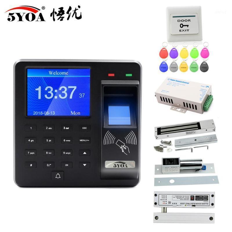 Empreinte digital RFID Système de contrôle d'accès à la porte intelligente Lock Smart Porta Ouvre-porte Maison Digital Set magnétique électrique biométrique1
